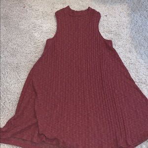 Sweater material dress